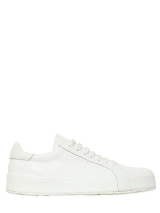 sneakers platform sneakers leather white shoes