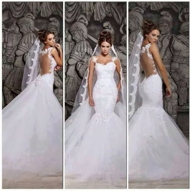 dress wedding dress mermaid wedding dress