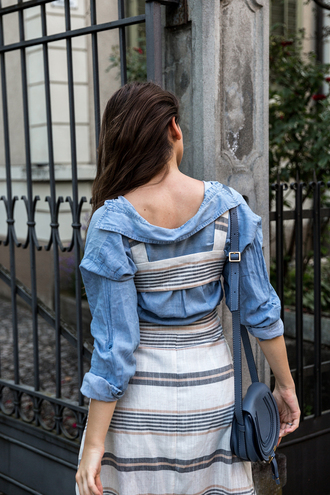 the fashion fraction blogger dress shirt bag shoes