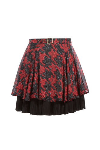 skirt silk red
