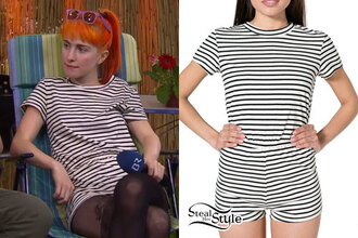 t-shirt hayley williams paramore orange hair romper wayfarer