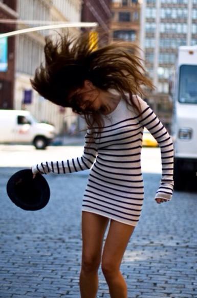 long sleeve dress sweater dress white cute dress striped dress tan dress body-con dress tight dress winter dress long sleves longsleved dress crew neck black soft cashmere cashmere in style cute dress style