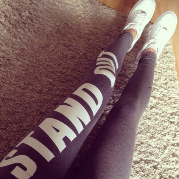Sportlegging Tekst.Bershka Netherlands Legging Bershka Sport Met Tekst