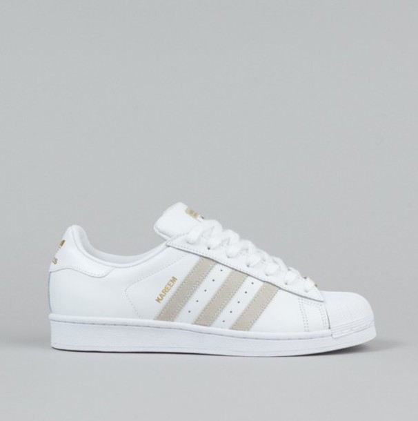 Shoes Beige And White White Beige Superstar Adidas
