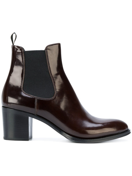 Church's women chelsea boots leather suede brown shoes