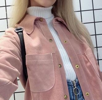 jacket joanna kuchta pink suave buttons