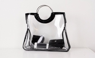 bag clear black chanel luxury iphone