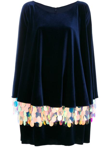 Talbot Runhof dress sequin dress long women spandex blue