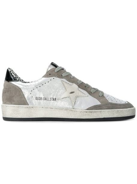GOLDEN GOOSE DELUXE BRAND women sneakers leather cotton grey metallic shoes
