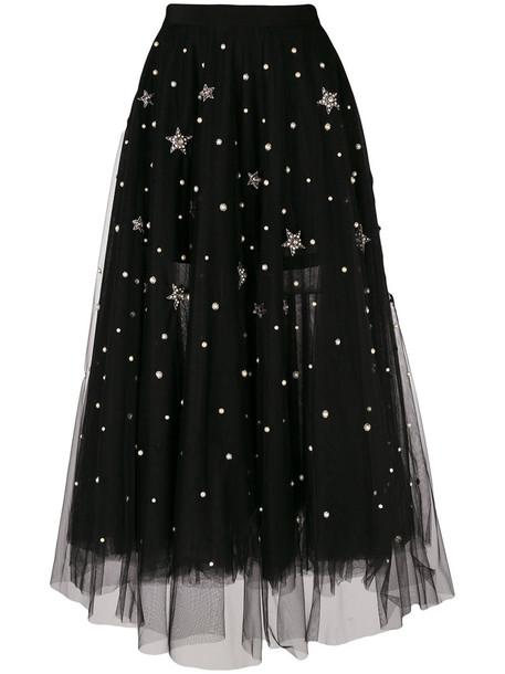 WANDERING skirt tulle skirt embroidered women black