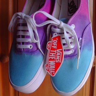 shoes vans purple and blue ombre