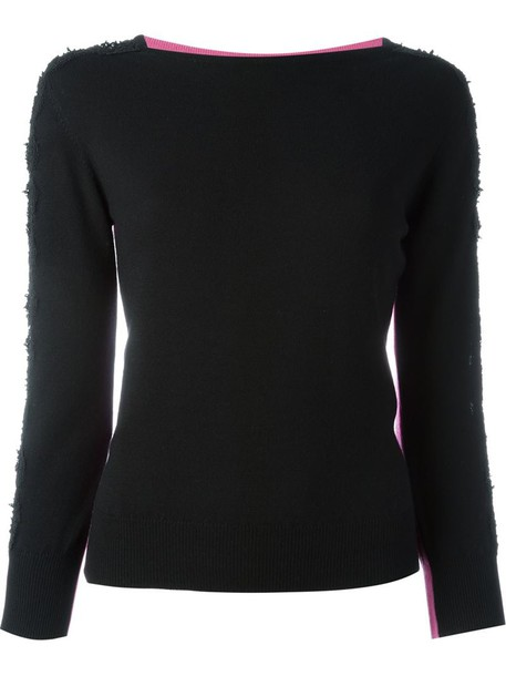 blouse long sheer black top