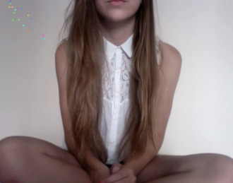 skirt singlet shirt collar white long hair tumblr button up