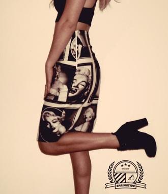 skirt urban outfitters pencil skirt marilyn monroe fashion