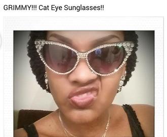 sunglasses swarovski cateye sunglasses crystal quartz