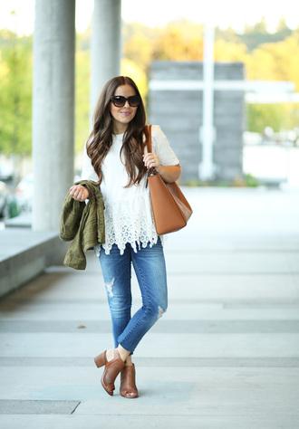 dress corilynn blogger shirt jeans jacket shoes sunglasses bag