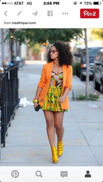 dress african print