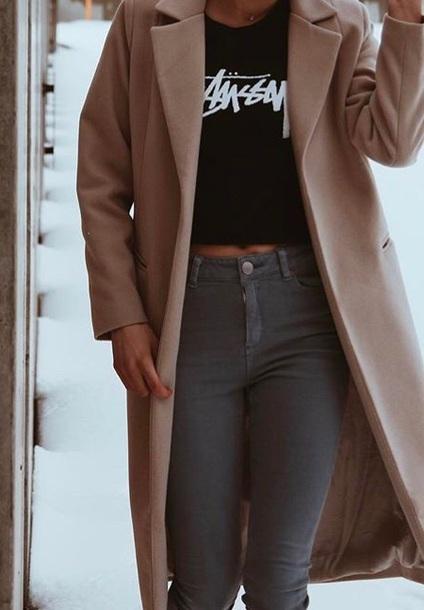 coat tan long need