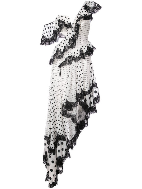Zimmermann dress polka dots dress women polka dots white