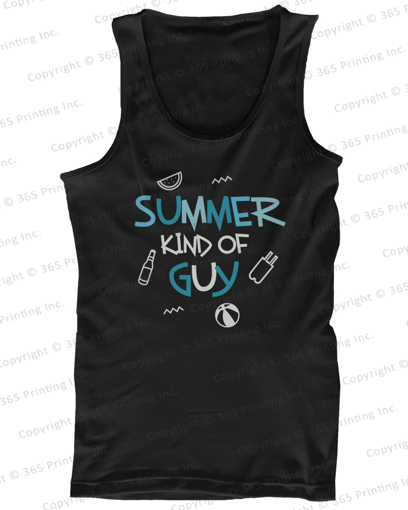 Men 039 s Beach Tank Tops Summer Kind of Guy | eBay