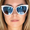 Tori cat eye mirrored sunglasses