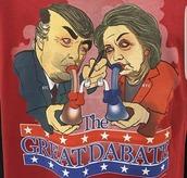 shirt,dabs,donald trump,hillary clinton,red,smoke