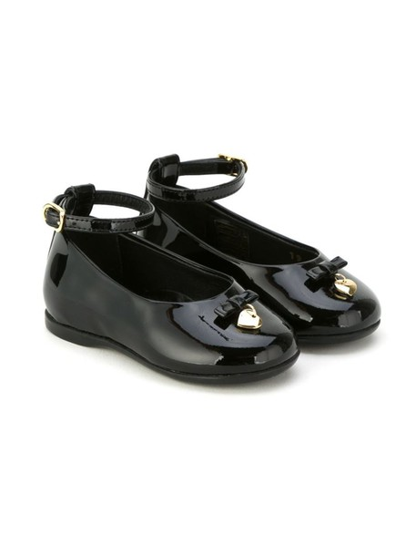ankle strap leather black shoes