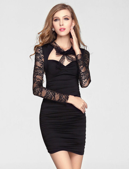 little black dress lace dress