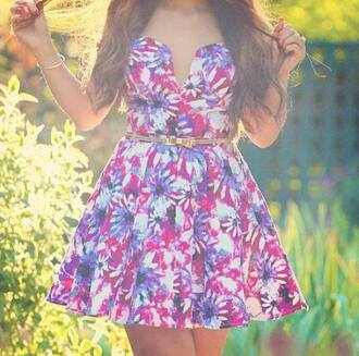clothes dress flower dress mini dress