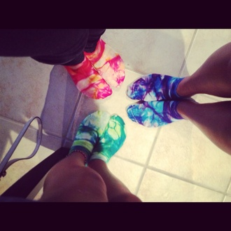 shoes socks tie dye tie dye socks red socks blue socks green socks