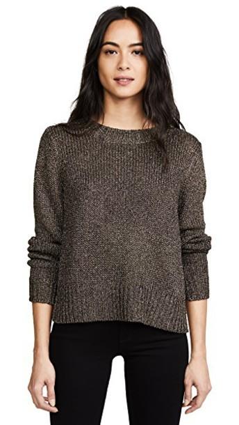 A.L.C. sweater gold black