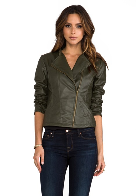 Bb dakota harlet army green jacket