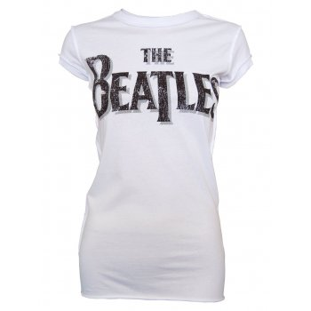 Amplified Ladies Vintage White The Beatles T Shirt, Vintage White - Amplified from Jukupop UK