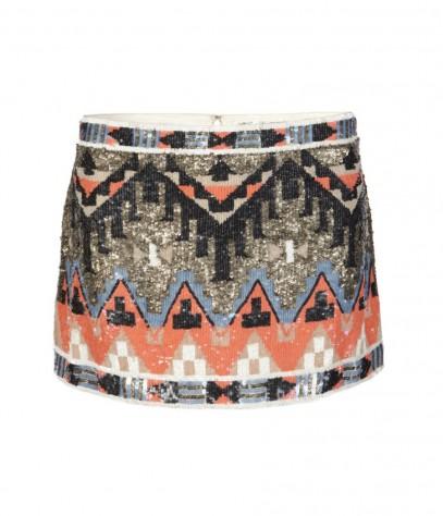 Allsaints aztec skirt