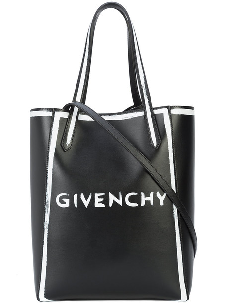 Givenchy - logo shopper tote - women - Calf Leather - One Size, Black, Calf Leather