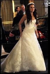 dress,blair waldorf,blair,waldorf,gossip girl,leighton meester,wedding dress,wedding clothes