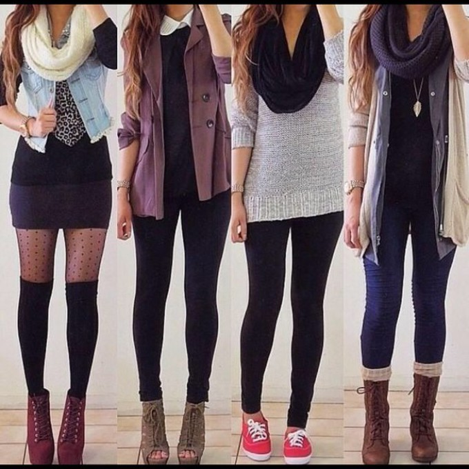 leggings scarf jeans shoes red lime sunday cozy hipster tights cardigan fall outfits girly underwear scarf red