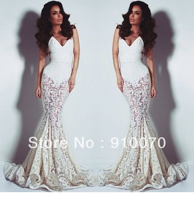 white lace prom dresses 2014   Gommap Blog