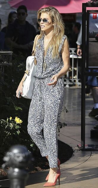 jumpsuit summer summer outfits annalynne mccord pumps