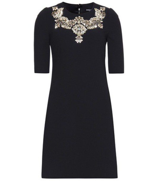 Dolce & Gabbana dress embellished wool black