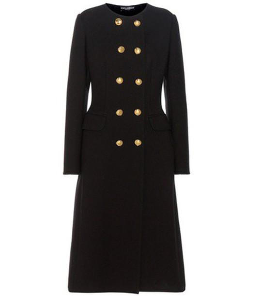 Dolce & Gabbana Wool-blend Coat in black