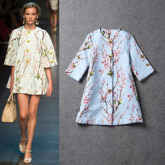 runway women coat fashion coat print coat trench coat