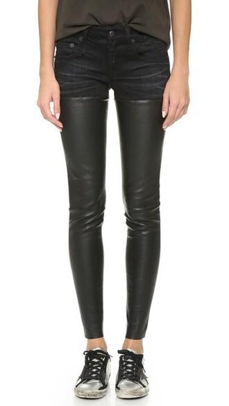 jeans leather black