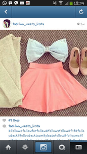 shirt,skirt,shoes,sweater,bows,bow,pink dress,white dress,pretty
