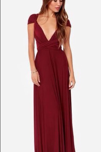 dress burgundy maroon/burgundy prom dress prom gown prom dresses prom gown formal dress