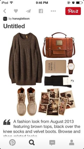 bag vintage sweater