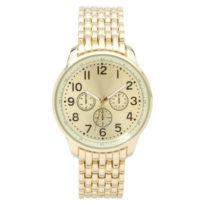 Merona® Gold Tone Extra Large Boyfriend Watch