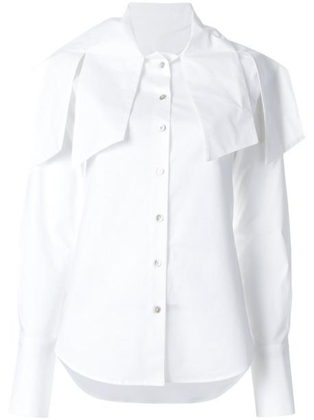 shirt women spandex cotton white top