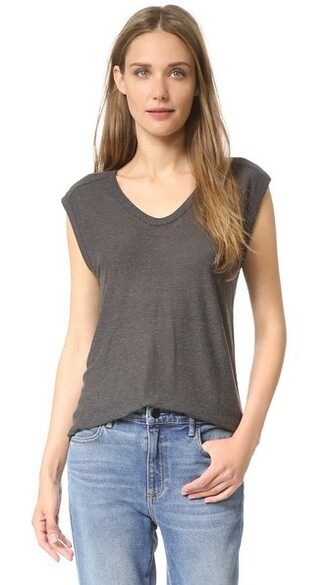 muscle tee classic charcoal top