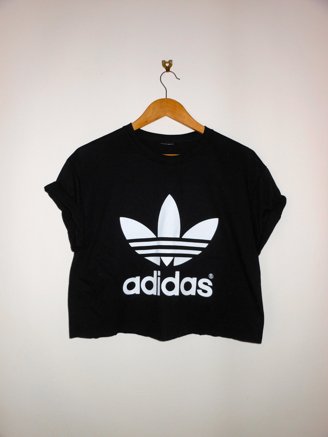 classic back adidas sexy swag style crop top tshirt fresh boss dope celebrity festival clothing. Black Bedroom Furniture Sets. Home Design Ideas